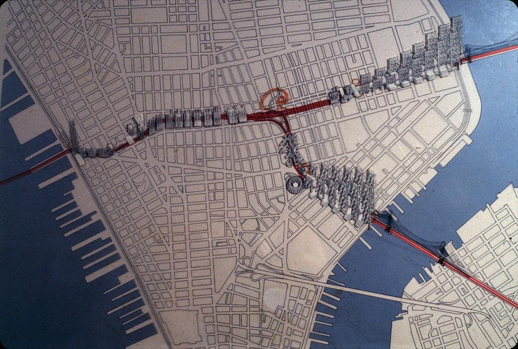 Il tracciato della Lower Manhattan Expressway